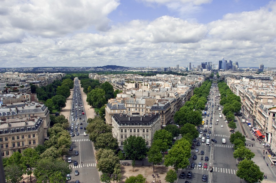 Paris as seen from the Arc de