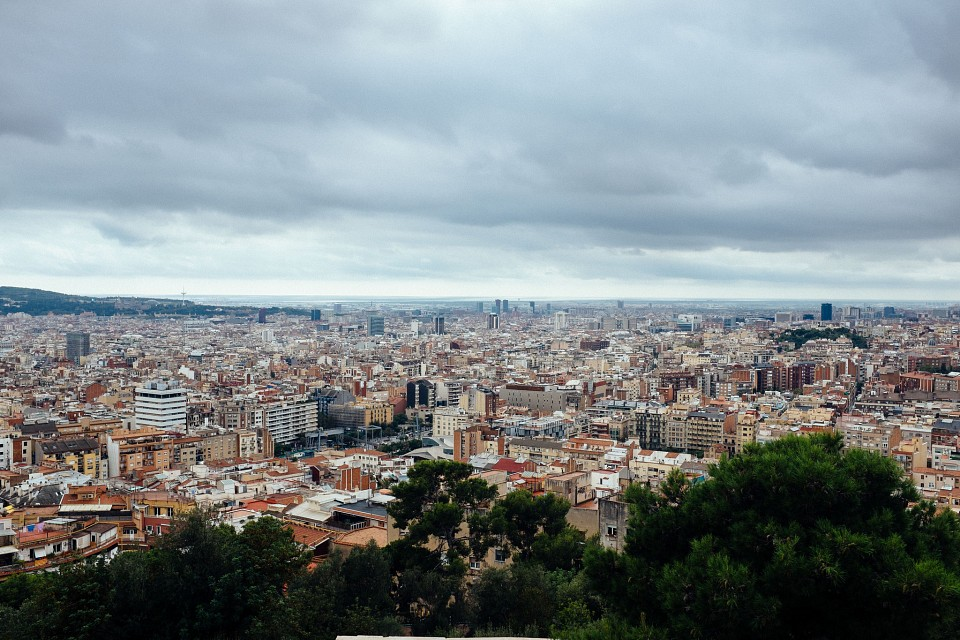 The wind shook the kiss from your mouth - Park Güell