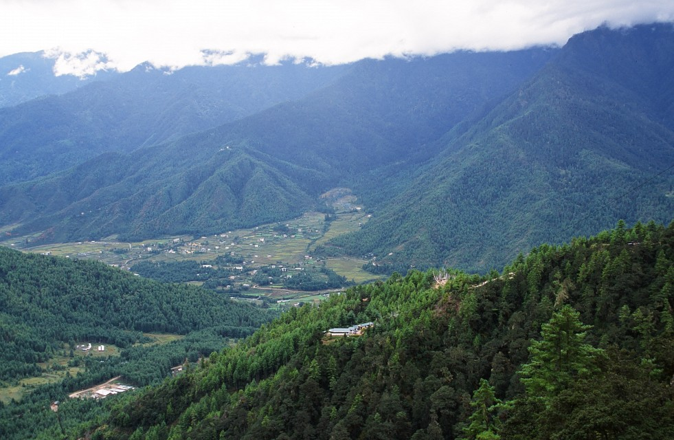 View of Paro Valley From Taktsang, Bhutan, 2002 - Paro Valley