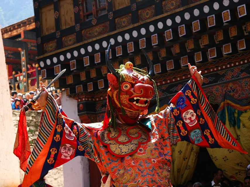 Dance of the Lord of Death (Paro, Bhutan) - Paro Valley