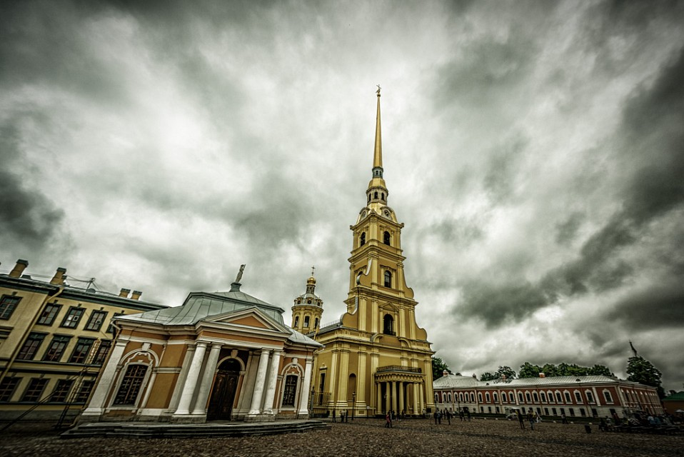 stormy fortress cathedral - Peter and Paul Fortress