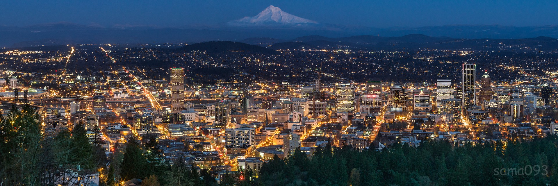 Portland as seen from Pittock Mansion - Pittock Mansion