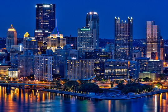 Pittsburgh Point at night - Pittsburgh