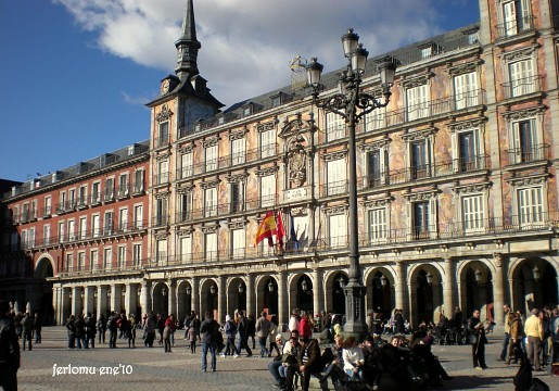 Madrid'10 plaza Mayor en invierno - Plaza Mayor