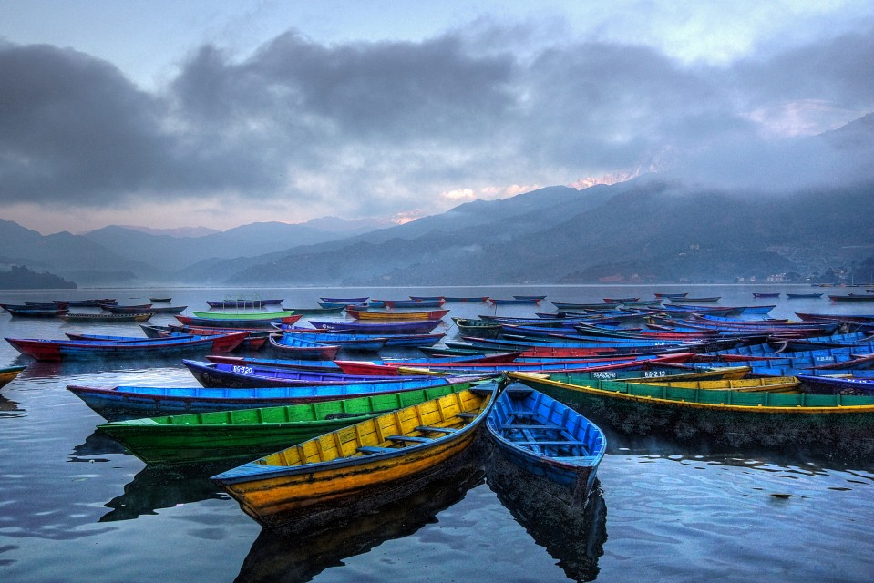 pokhara lake and boats - Pokhara