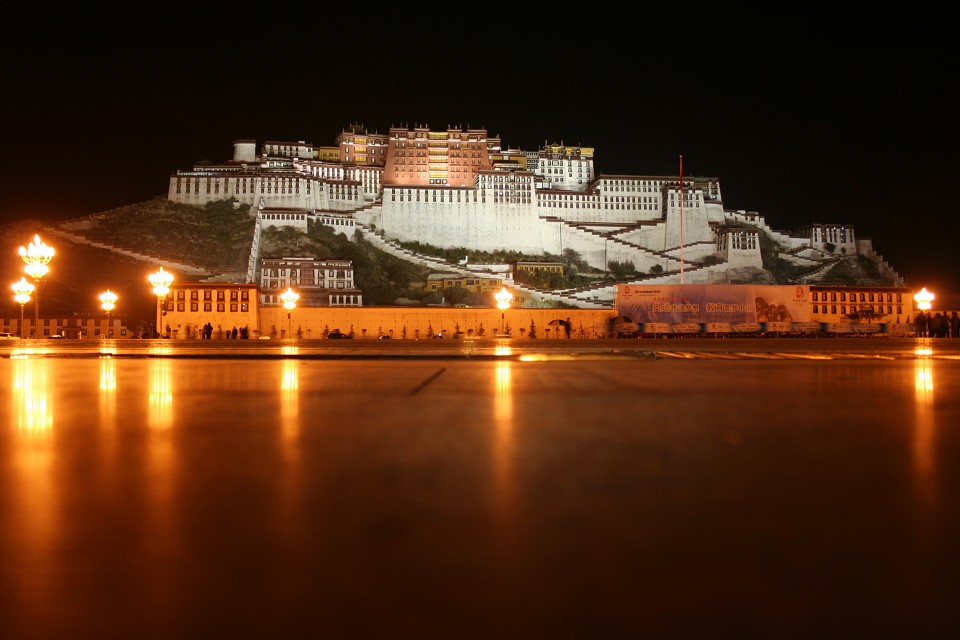 Potala palace at night - Potala Palace