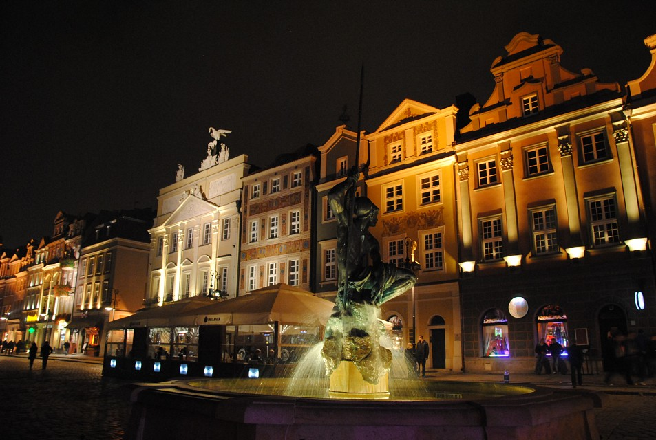 Old Market Square by night - 2 - Poznań