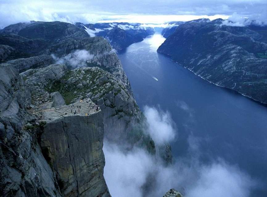 Preikestolen. Mountain in Lysefjord, Norway
