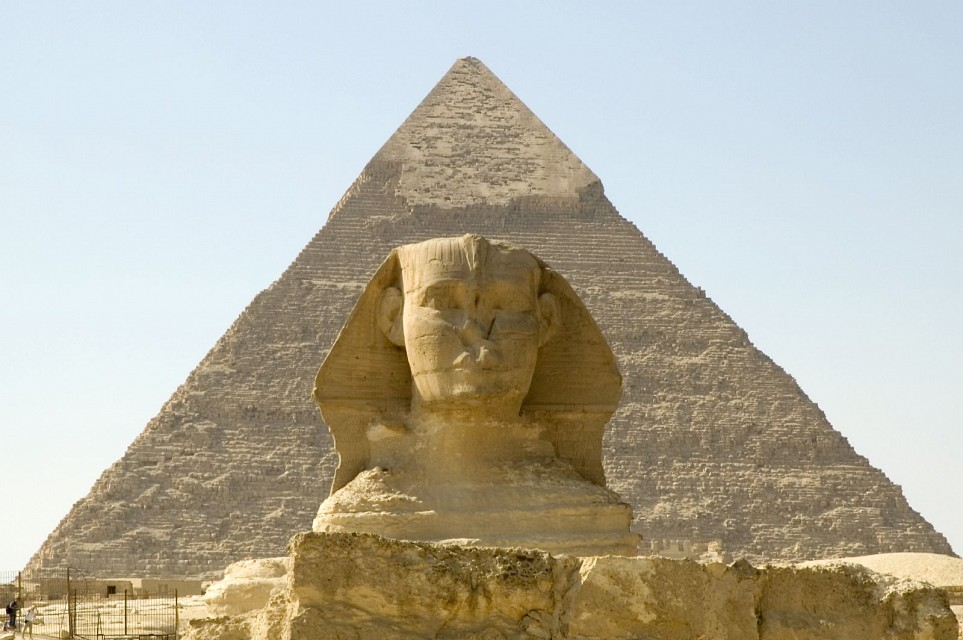 Sphinx and Pyramid of Khafre - Pyramid of Khafre