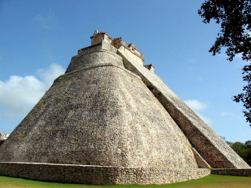 Pyramid of the Magician. Temple in Mexico, North America