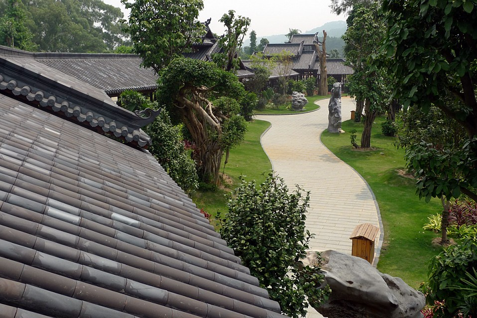 Covered walkway on Qingxiu Shan - Qingxiu Mountain Scenic Spot Zone