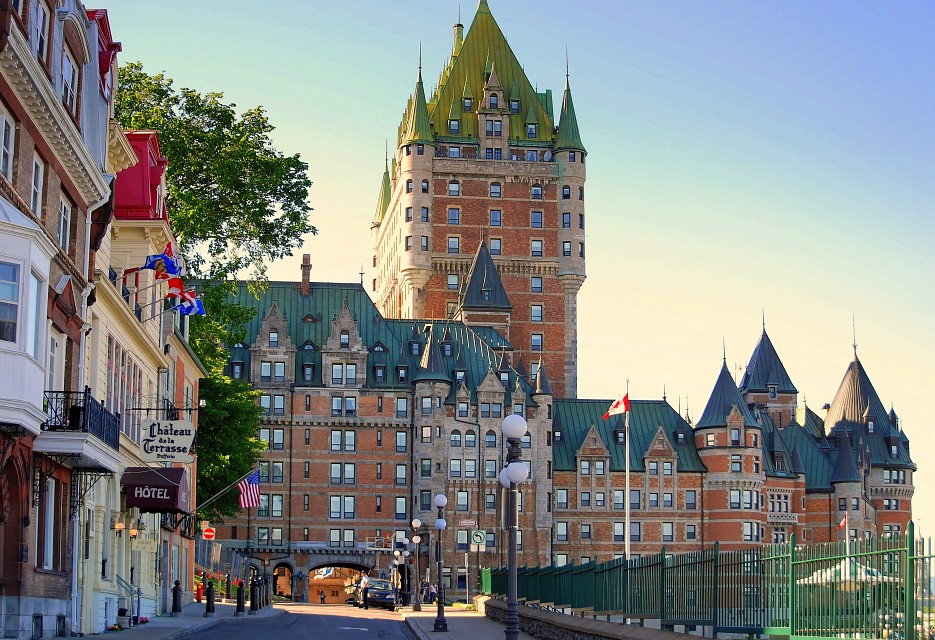 Chateau Frontenac in Late Afternoon, Quebec - Quebec City