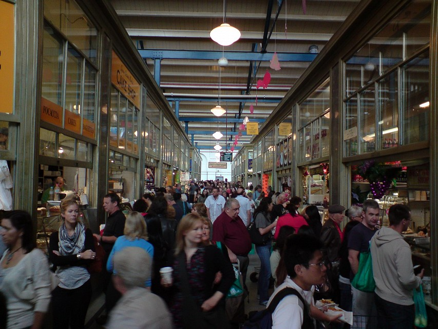 Crowds in the Deli Hall - Queen Victoria Market - Queen Victoria Market