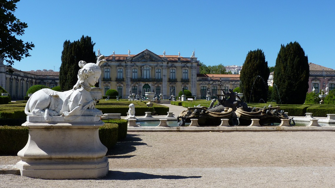 Queluz - the hanging gardens - Queluz National Palace