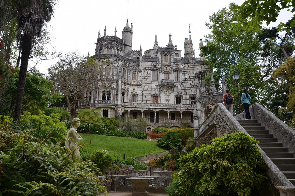 Quinta da Regaleira. Palace in Lisbon, Portugal