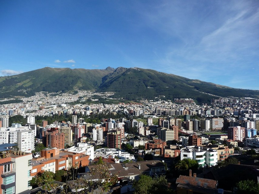 City of Quito, pichincha volcano. - Quito