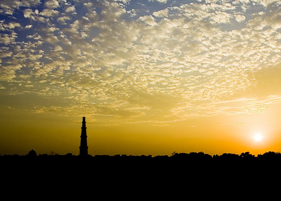 Qutub Minar at Sunset - Qutub Minar