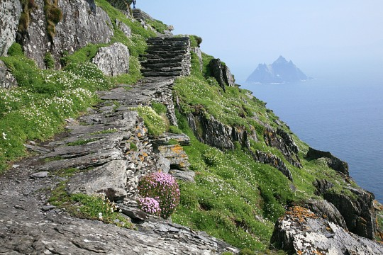 The steps to the top of Skellig Michael - Ring of Kerry
