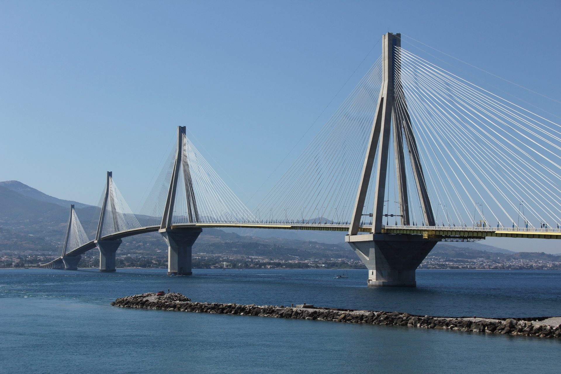 Cable-stayed Bridge In Greece
