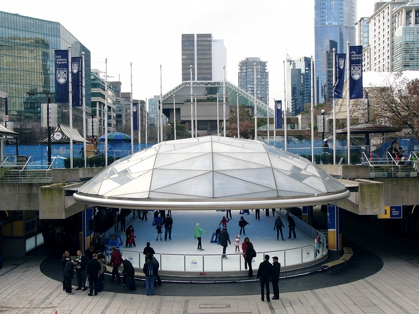 Skating rink at Robson Square officially opens - Robson Square