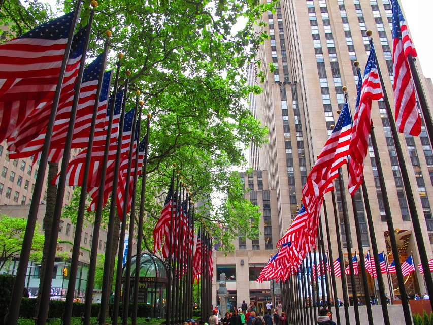 American Flags in Rockefeller Center for Memorial Day - Rockefeller Center