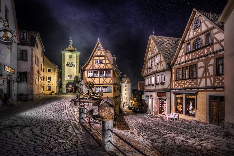 Rothenburg split road - Rothenburg