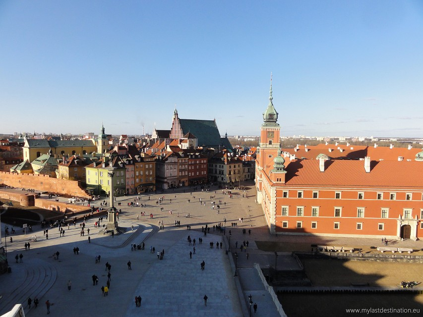 Panorama of the Castle square in Warsaw - Royal Castle Warsaw