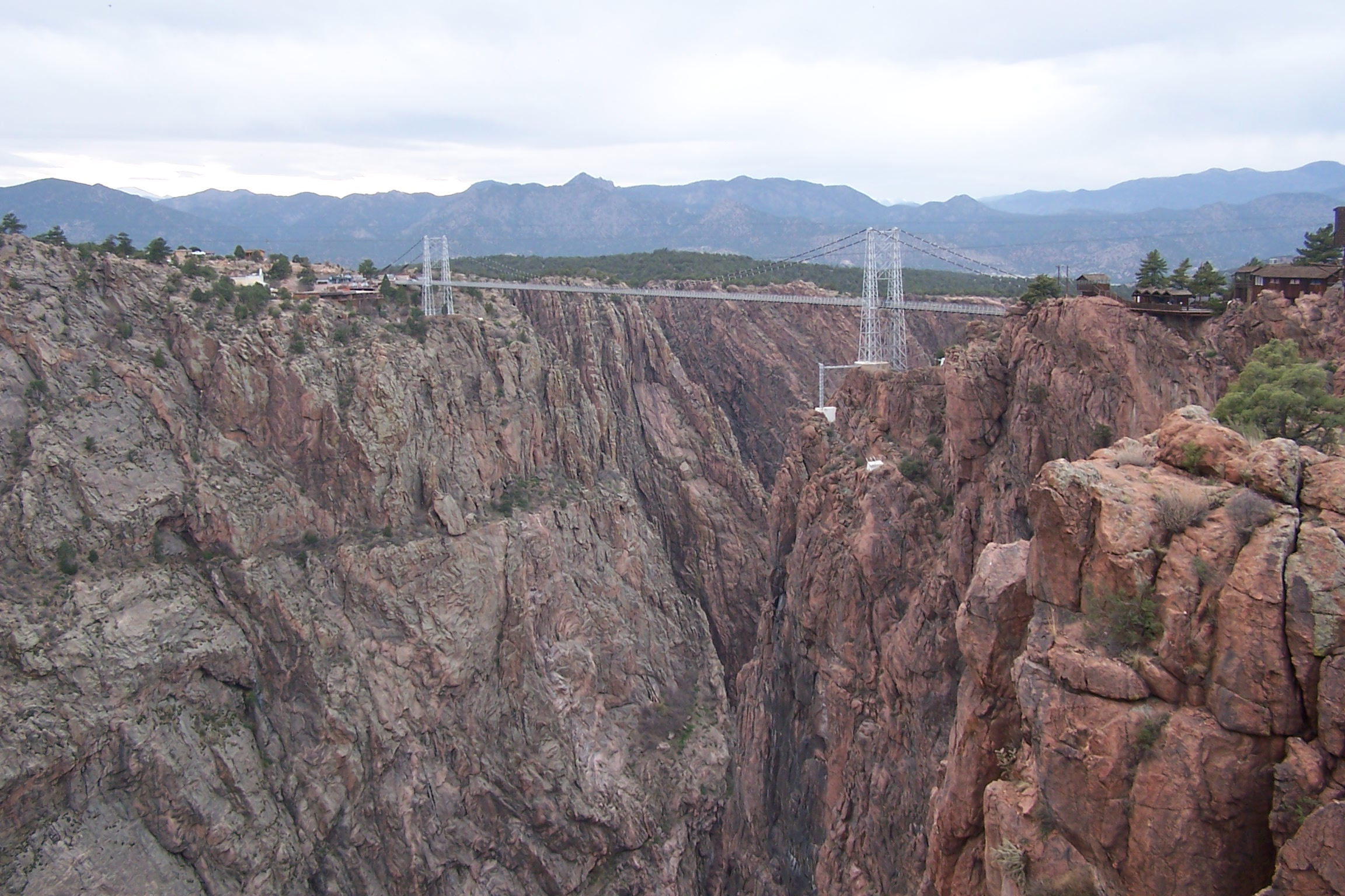 Royal Gorge Bridge And Park Canyon In Colorado