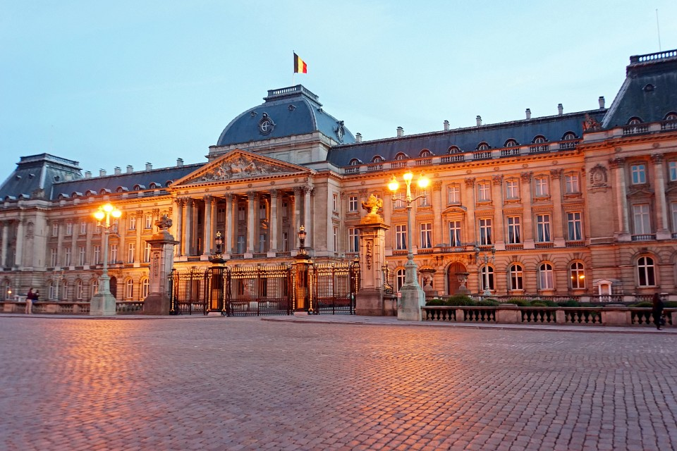 Belgium-6617 - Twilight at the Palace - Royal Palace of Brussels