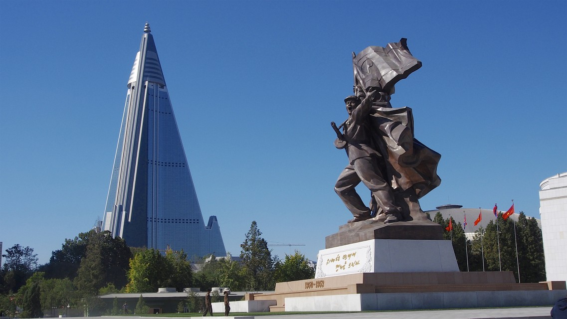 Victorious Fatherland Liberation War Museum and Ryugyong Hotel - Ryugyong Hotel