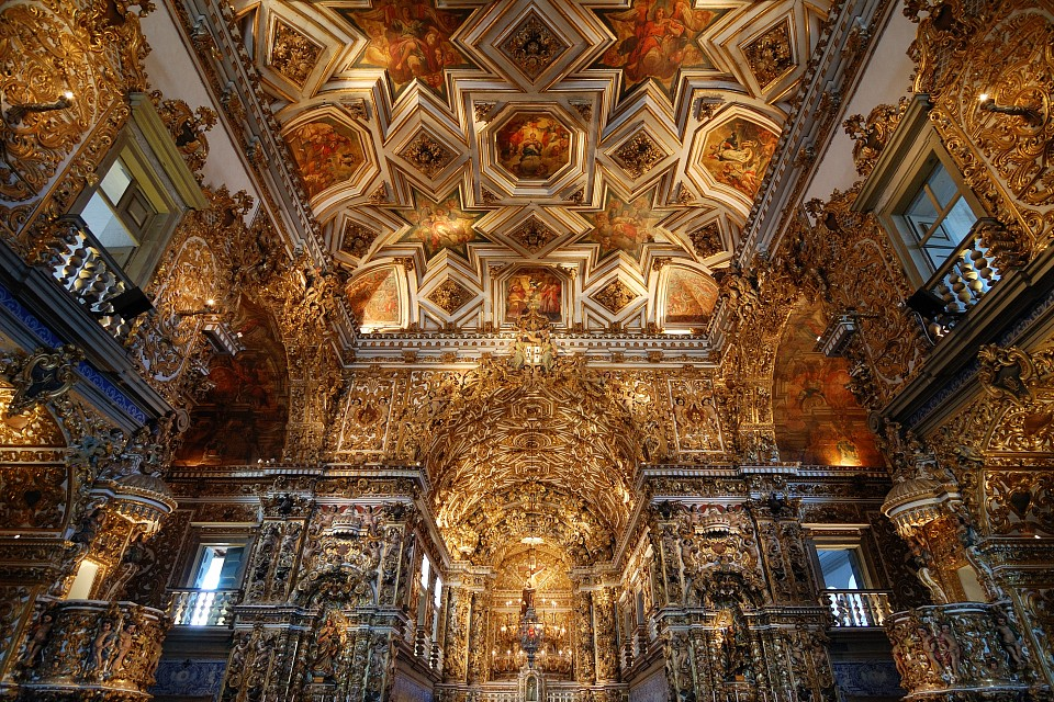 surrounded by gold - São Francisco Church and Convent
