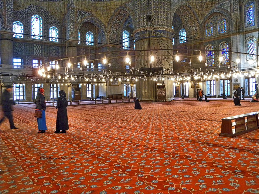 #Istanbul, In the Blue Mosque - Süleymaniye Mosque