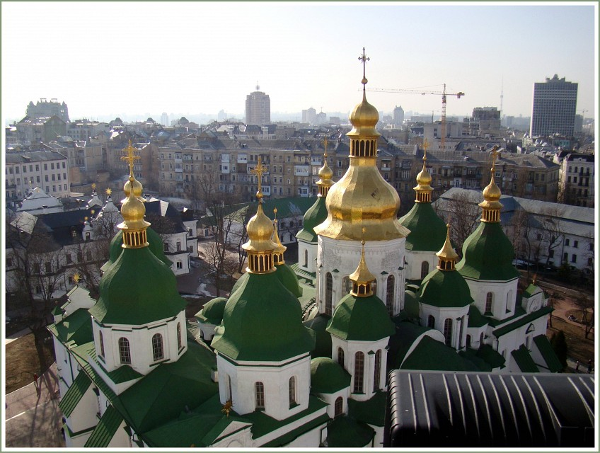 Over the roofs of  Kiev...  # 3 - Saint Sophia's Cathedral