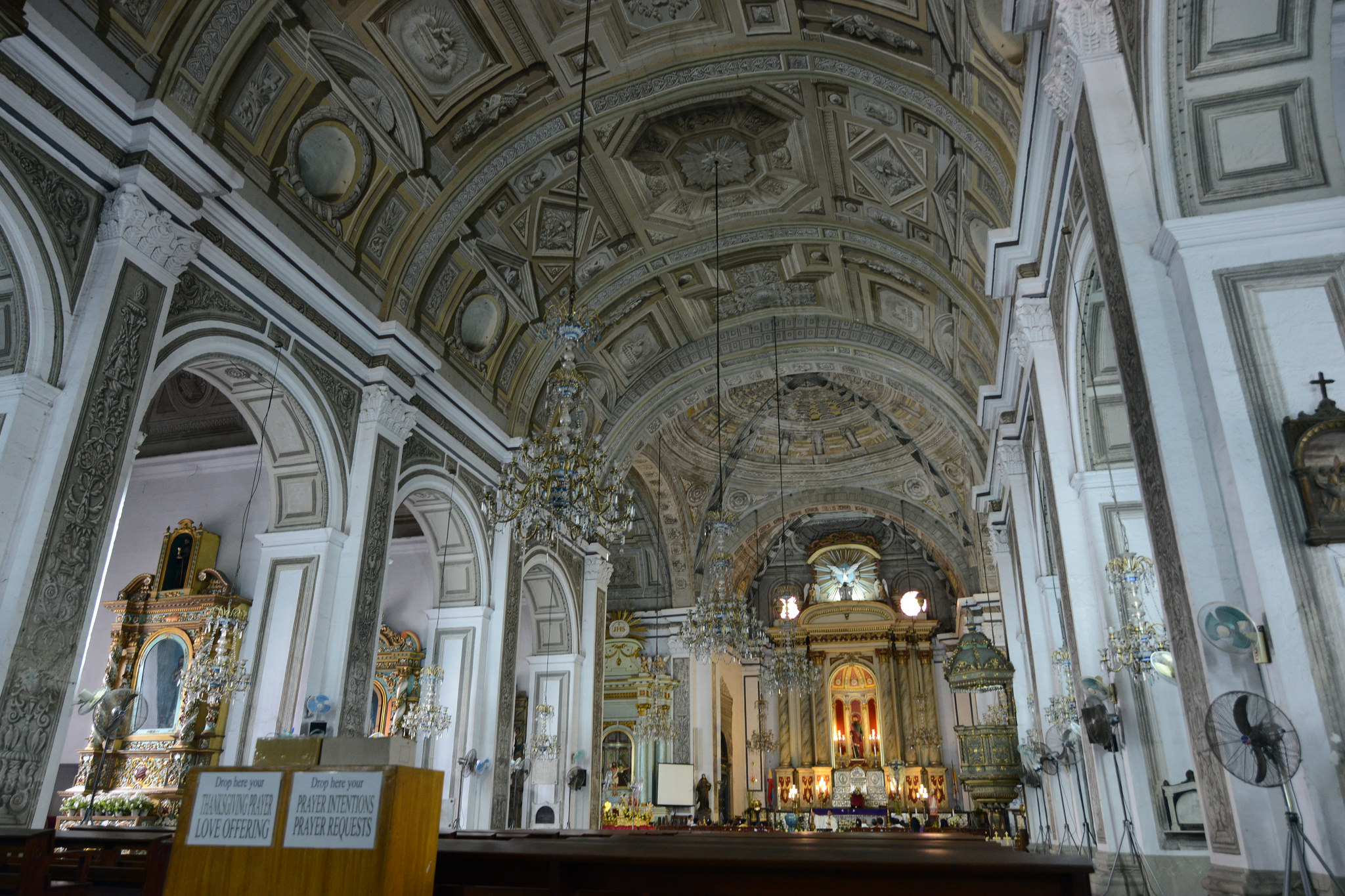 Interior of the San Agustin Church