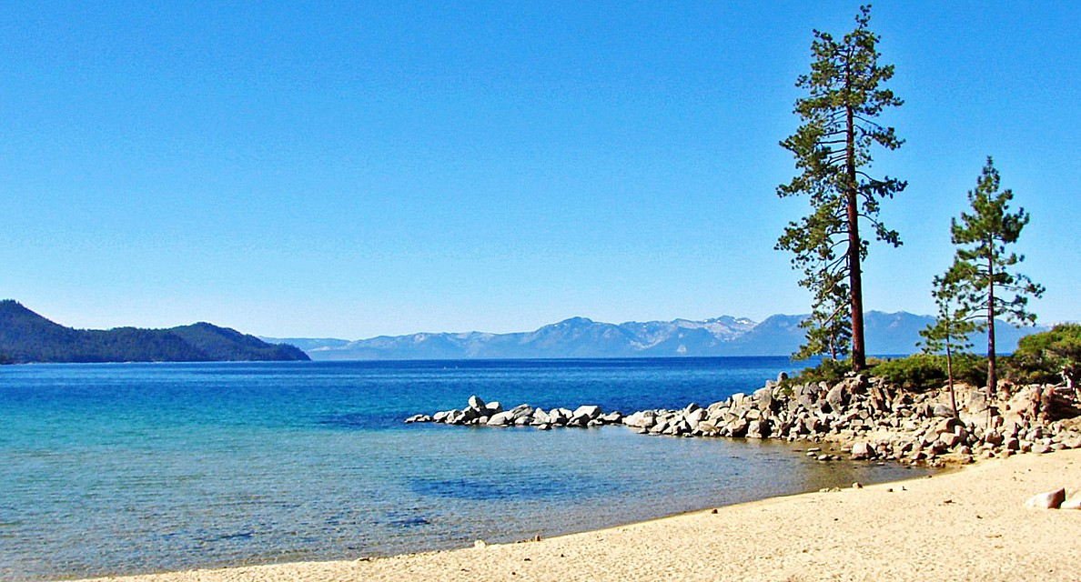 Trees over Sand Harbor, Lake Tahoe, NV 9-10a - Sand Harbor