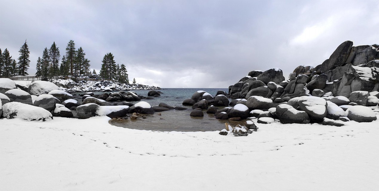 Lake Tahoe Sand Harbor Panorama  - Sand Harbor