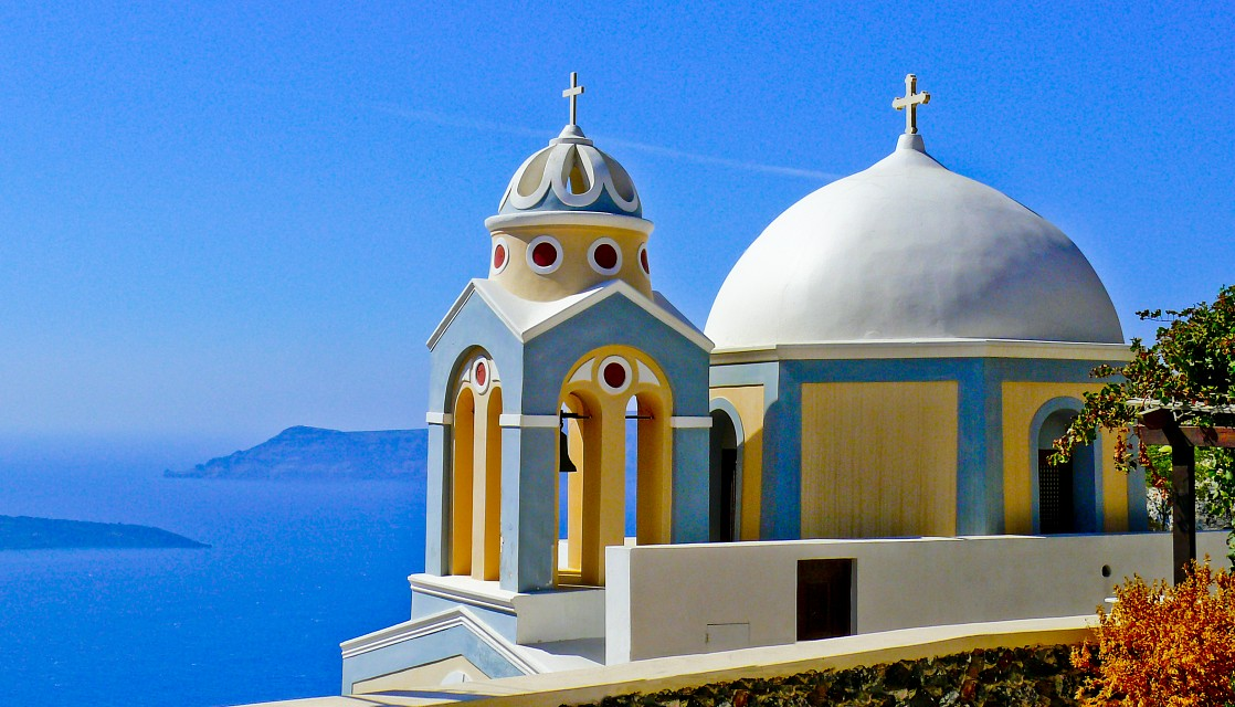 Church in Fira Town - Santorini