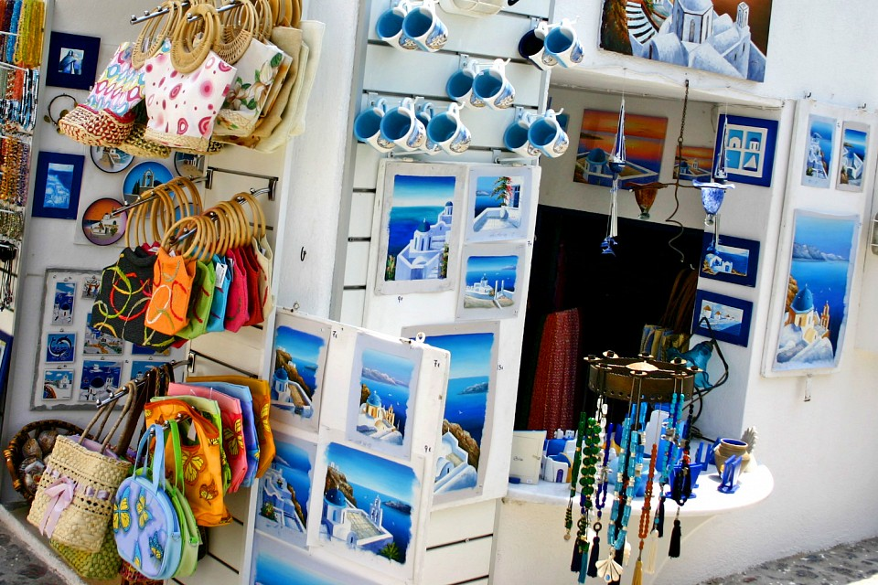 Tourist shop in Oia - Santorini