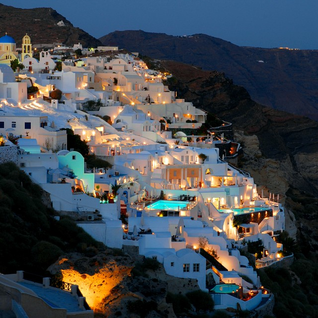 By night - Santorini