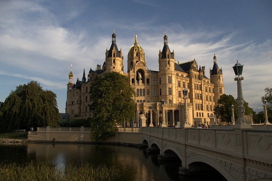 Schwerin castle - view from city - Schwerin Castle