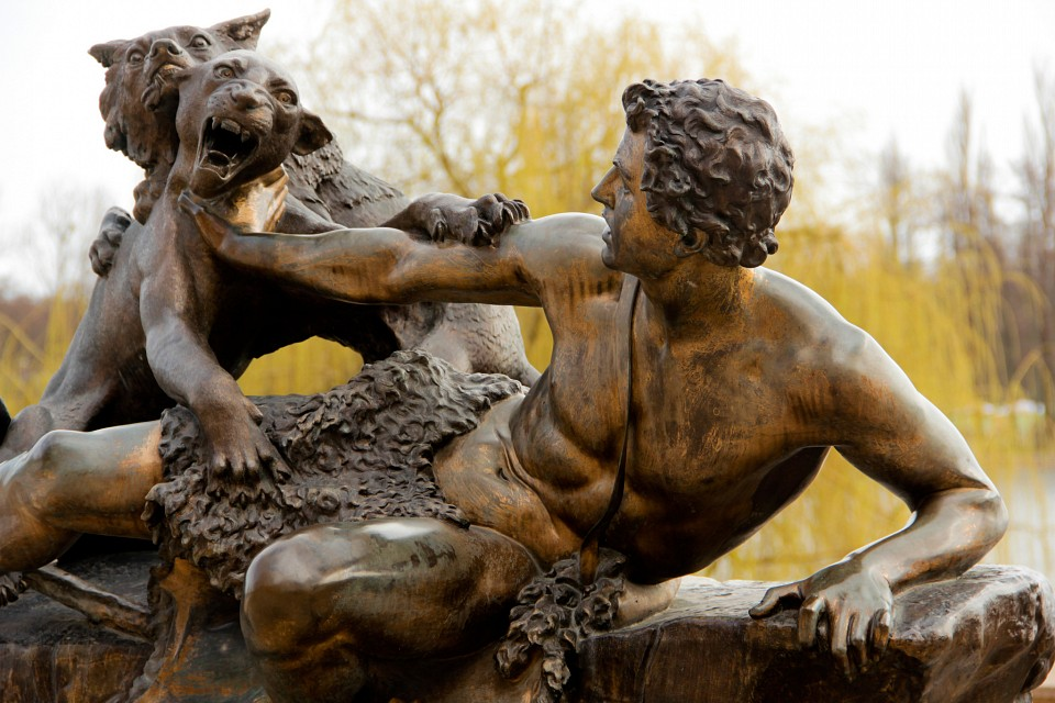 Shepherd, attacked by a panther - Schwerin Castle