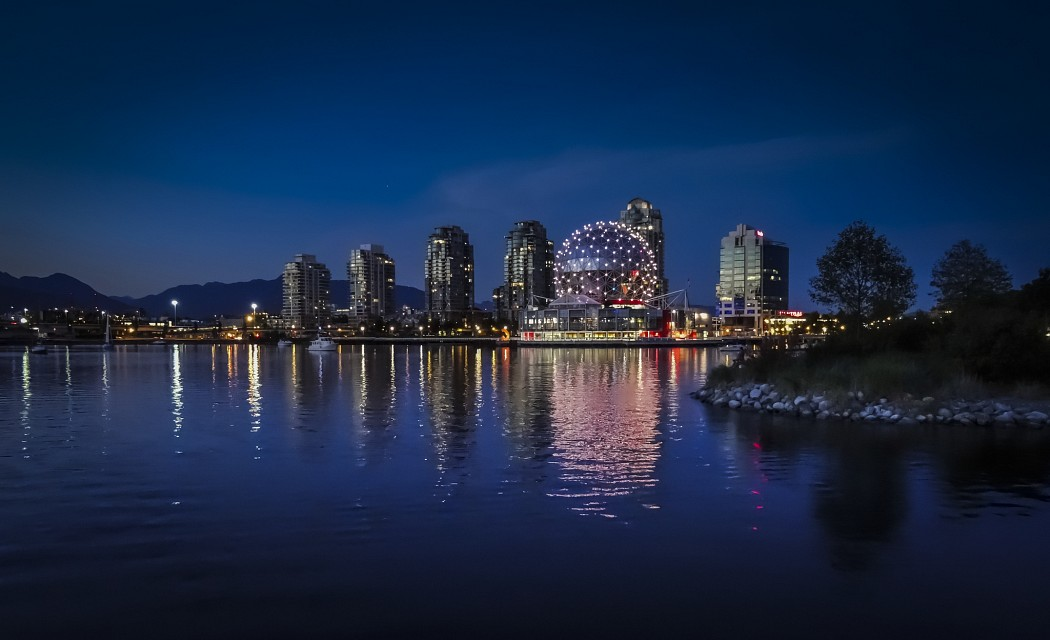 Science World at Night - Science World Vancouver