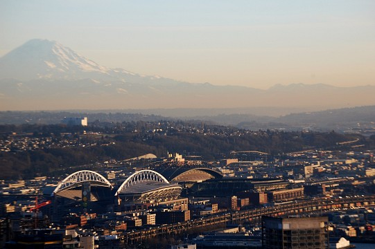 View from space needle Mt Rainer - Seattle