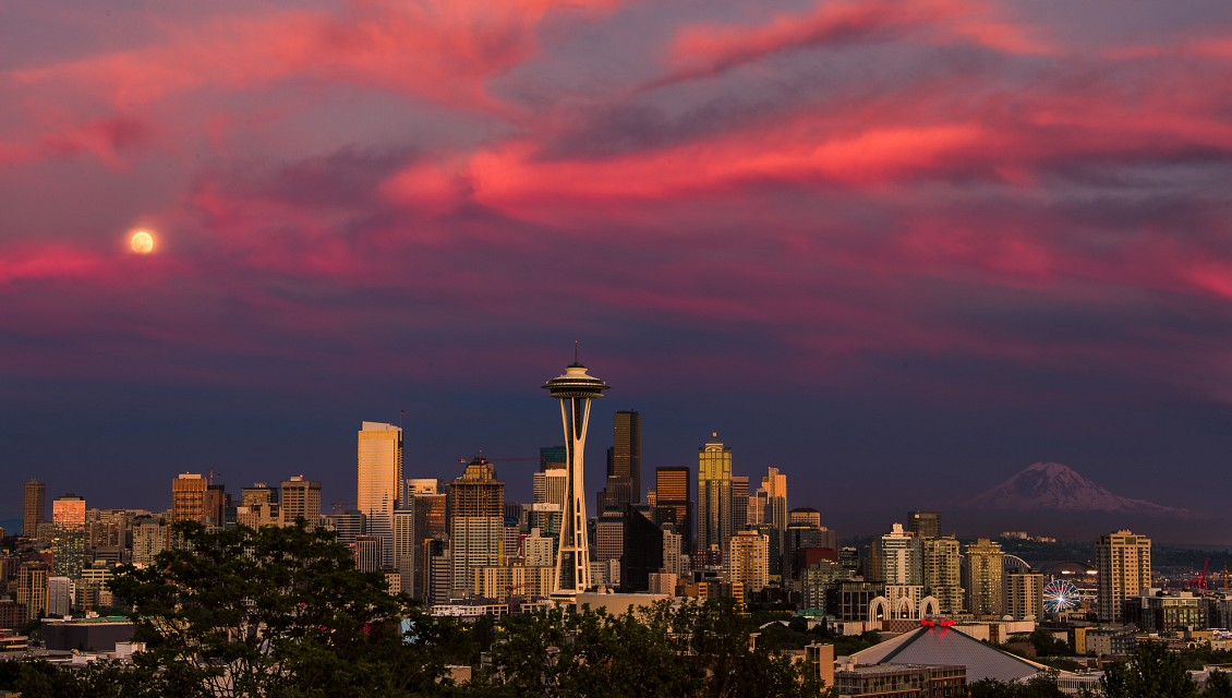 The Many Faces Of a Seattle Sunset #2 - Seattle