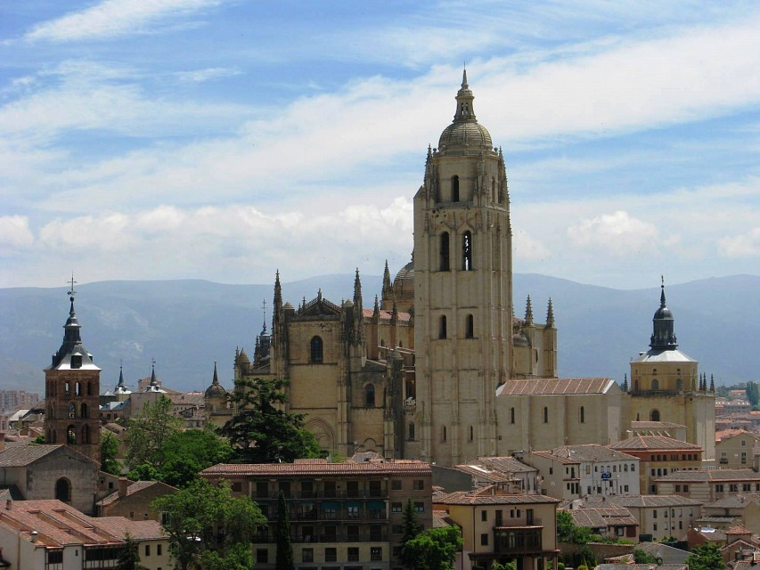 Segovia's Real Alcázar (Royal Castle/Fortress)... and the views afford up there - Segovia Cathedral
