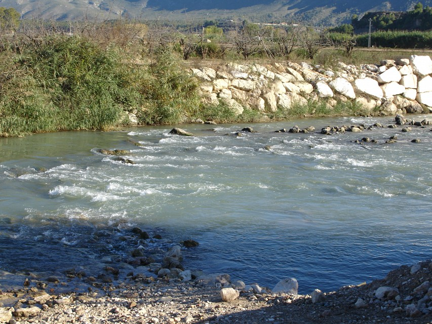 The flow of the Segura river - Segura