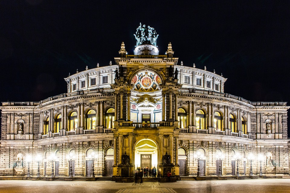 Semperoper at night -