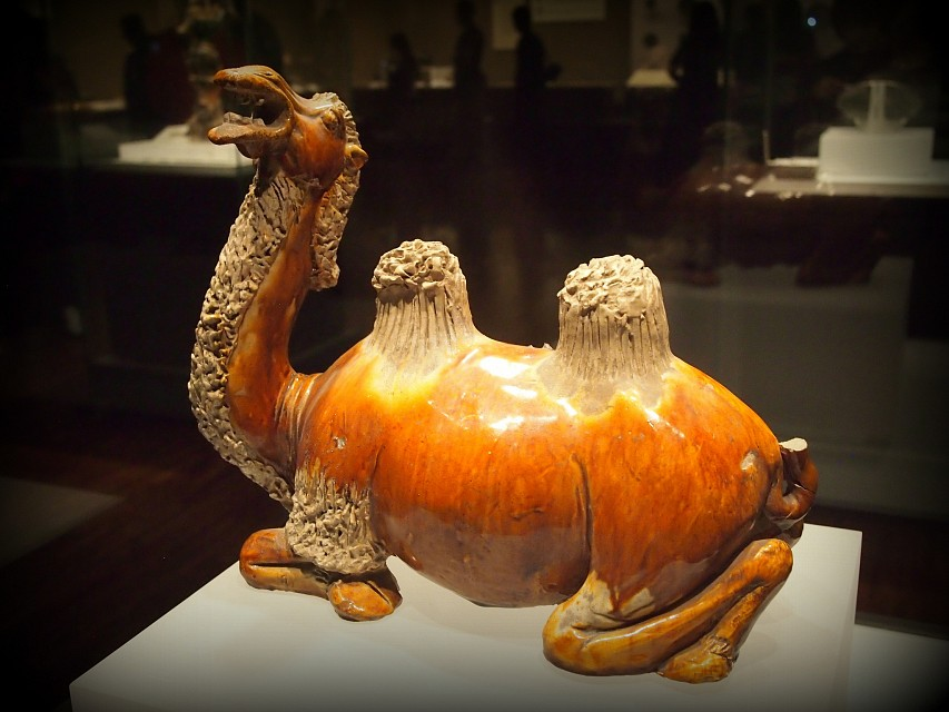 Tri-colored Crouching Camel - Tang Dynasty - Shaanxi History Museum