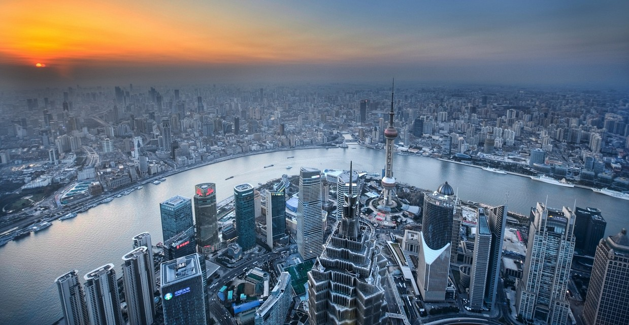 Shanghai with Pudong in the foreground - Shanghai