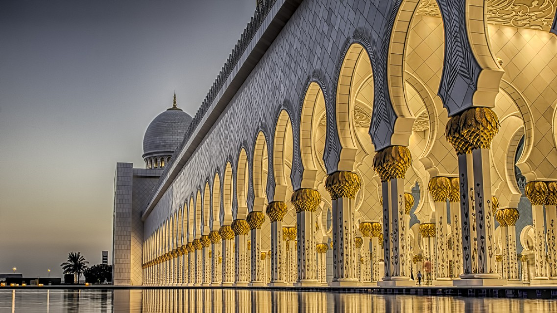 The Grand Mosque, Abu Dhabi - HDR Color version - Sheikh Zayed Mosque